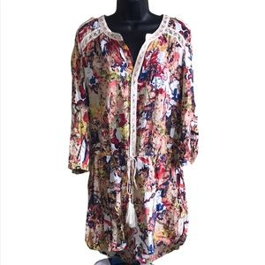 Chelsea & Violet Floral Abstract Romper Size S